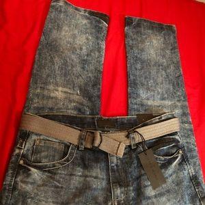 New Dark Wash Men Denim Jeans 34x30